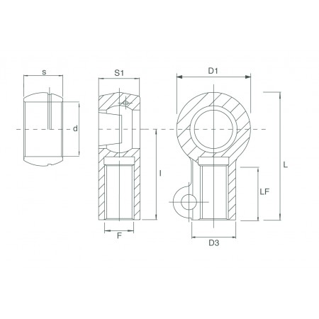 TXM_ -  BALL JOINT END FOR FORK LIFT WITH DISMAQNTLED BEARING